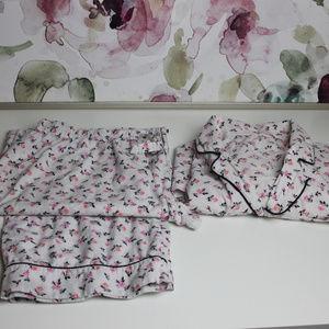 Victoria's Secret Two Piece Long Sleeve Pajamas L